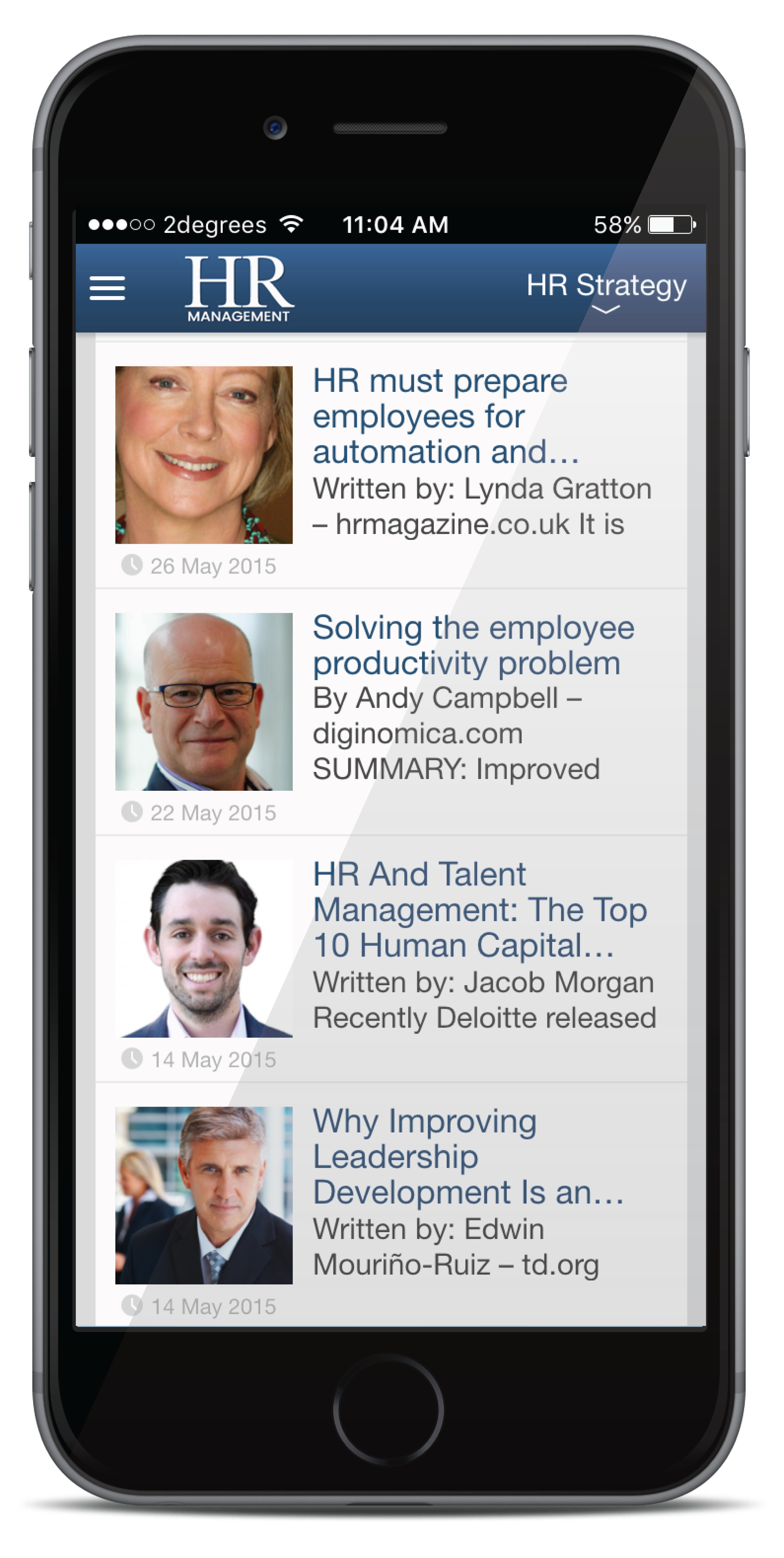 Featured Stories - HR Management App